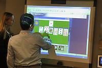 - SMAU, international exibition of electronics, computer and technological innovation, card game on interactive screen..- SMAU, salone internazionale dell'elettronica, informatica e innovazione tecnologica, gioco di carte su schermo interattivo