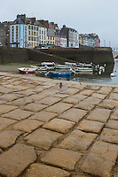 France, Bretagne, (29), Finistère, Douarnenez: le port de pêche, détail de la jetée