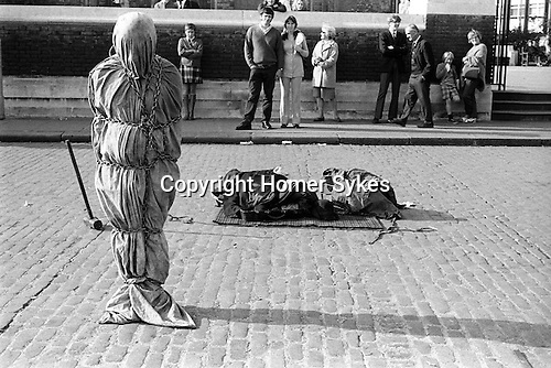 Johnny Eagle escapologist Tower Hill, London Uk  1970