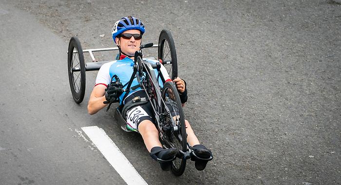 Matthew Kinnie - Lima 2019. Para Cycling // Paracyclisme.<br /> Matthew Kinnie competes in the road race // Matthew Kinnie participe à la course sur route. 01/09/2019.