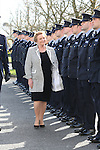 Attending the Garda graduations in Templemore on Thursday was Minister for Justice Frances Fitzgerald inspecting a Guard of Honour.<br />  Photograph Liam Burke/Press 22