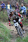 Justin Loeb, the overall winner. RaboDirect 2012 MTB National Championships: Super D, Codger's MTB Park, Nelson, 27 January 2012<br /> Photo: Marc Palmano/shuttersport.co.nz