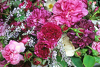 Bouquet of old roses including 'Charles de Mills'