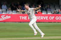 Sam Cook of Essex celebrates taking the wicket of James Bracey during Essex CCC vs Gloucestershire CCC, LV Insurance County Championship Division 2 Cricket at The Cloudfm County Ground on 5th September 2021