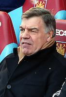 Pictured: Sam Allardyce, manager for West Ham. 01 February 2014<br /> Re: Barclay's Premier League, West Ham United v Swansea City FC at Boleyn Ground, London.