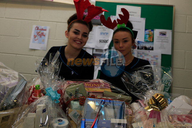 Elen Raybourne and Grace Murphy taking part in the Charity beauty blitz in DIFE.<br /> Picture www.newsfile.ie