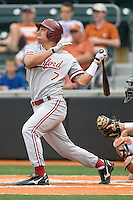 Stanford outfielder Tyler Gaffney (7) watches a fly ball against the Texas Longhorns on March 4th, 2011 at UFCU Disch-Falk Field in Austin, Texas.  (Photo by Andrew Woolley / Four Seam Images)