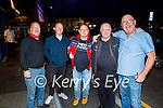 Enjoying the evening in Killarney on Saturday, l to r: Phil Porter, Darren McFadden, Danny Fox, Ray Burrow (Kilcummin) and Eddie English (Banteer).