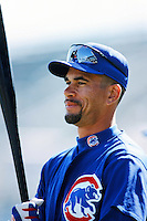 Benito Santiago of the Chicago Cubs before a 1999 Major League Baseball season game against the Los Angeles Dodgers in Los Angeles, California. (Larry Goren/Four Seam Images)