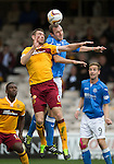 Motherwell v St Johnstone...30.08.14  SPFL<br /> Steven McManus and Dave Mackay<br /> Picture by Graeme Hart.<br /> Copyright Perthshire Picture Agency<br /> Tel: 01738 623350  Mobile: 07990 594431