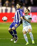 Deportivo Alaves' Ibai Gomez (l) and Celta de Vigo's Iago Aspas during Spanish Kings Cup semifinal 2nd leg match. February 08,2017. (ALTERPHOTOS/Acero)