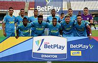 MONTERIA - COLOMBIA, 24-01-2021: Jugadores de Jaguares de Cordoba F.C., posan para una foto, antes de partido entre Jaguares de Cordoba F.C., y Atletico Bucaramanga de la fecha 2 por la Liga BetPlay DIMAYOR I 2021, en el estadio Jaraguay de Monteria de la ciudad de Monteria. / Players of Jaguares de Cordoba F.C., pose for a photo, prior a match between Jaguares de Cordoba F.C., and Atletico Bucaramanga, of the 2nd date for the BetPlay DIMAYOR I 2021 League at Jaraguay de Monteria Stadium in Monteria city. Photo: VizzorImage / Andres Lopez / Cont.