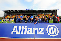 20130303 Copyright onEdition 2013©.Free for editorial use image, please credit: onEdition..Saracens Pioneers on hand to help fans during the Premiership Rugby match between Saracens and London Welsh at Allianz Park on Sunday 3rd March 2013 (Photo by Rob Munro)..For press contacts contact: Sam Feasey at brandRapport on M: +44 (0)7717 757114 E: SFeasey@brand-rapport.com..If you require a higher resolution image or you have any other onEdition photographic enquiries, please contact onEdition on 0845 900 2 900 or email info@onEdition.com.This image is copyright onEdition 2013©..This image has been supplied by onEdition and must be credited onEdition. The author is asserting his full Moral rights in relation to the publication of this image. Rights for onward transmission of any image or file is not granted or implied. Changing or deleting Copyright information is illegal as specified in the Copyright, Design and Patents Act 1988. If you are in any way unsure of your right to publish this image please contact onEdition on 0845 900 2 900 or email info@onEdition.com