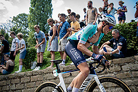 Tim Merlier (BEL/Alpecin-Fenix) up the infamous Muur van Geraardbergen / Kapelmuur<br /> <br /> 17thBenelux Tour 2021 (2.UWT)<br /> (Final) Stage 7: from Namur to Geraardsbergen (178km)<br /> <br /> ©kramon
