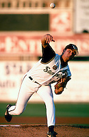 Rick Gorecki of the San Bernardino Stampede during a game at Arrowhead Credit Union Park in San Bernardino, California during the 1997 season.(Larry Goren/Four Seam Images)