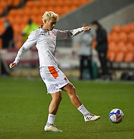 Blackpool's Kenny Dougall<br /> <br /> Photographer Dave Howarth/CameraSport<br /> <br /> EFL Trophy - Northern Section - Group G - Blackpool v Leeds United U21 - Wednesday 11th November 2020 - Bloomfield Road - Blackpool<br />  <br /> World Copyright © 2020 CameraSport. All rights reserved. 43 Linden Ave. Countesthorpe. Leicester. England. LE8 5PG - Tel: +44 (0) 116 277 4147 - admin@camerasport.com - www.camerasport.com