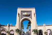 Universal Orlando Resort enterance gate, Orlando, Florida, USA