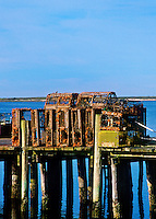 Wooden lobster traps.
