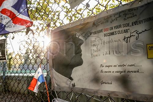30th October 2020, Imola, Italy; FIA Formula 1 Grand Prix Emilia Romagna, inspection day;  Tributes to Ayrton Senna Imola Italy