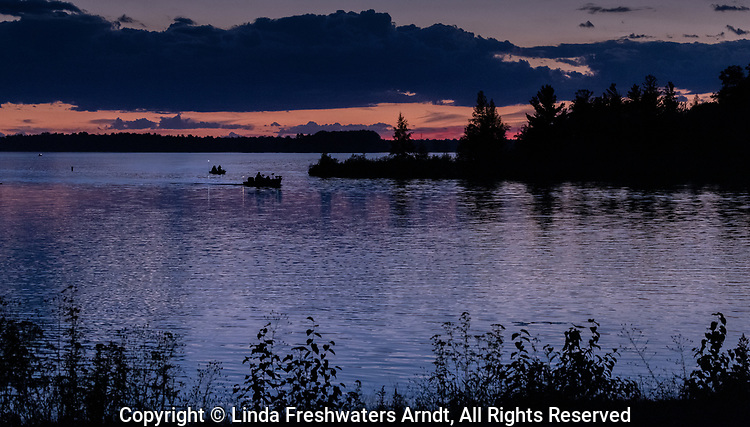Twilight on the Chippewa Flowage in northern Wisconsin.
