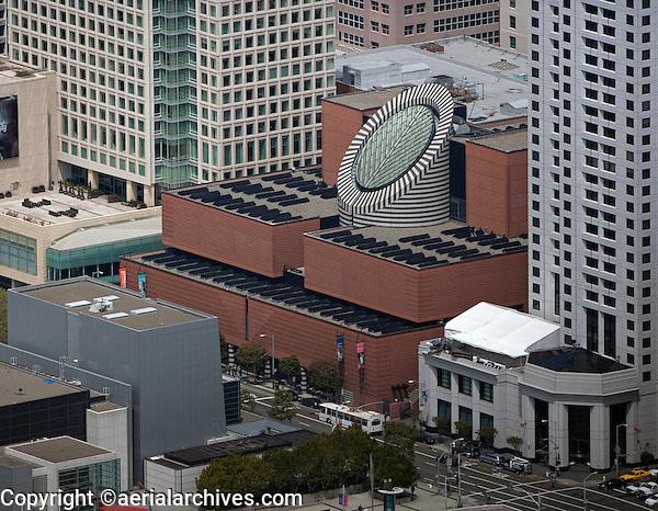 aerial photograph of the San Francisco Museum of Modern Art, SFMOMA, 151 Third Street, San Francisco, California