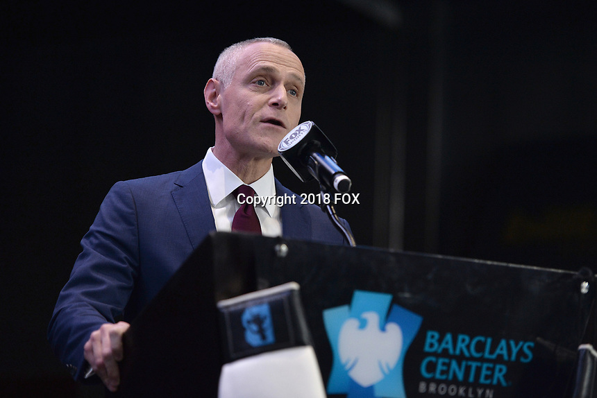 BROOKLYN, NY - DECEMBER 20: Brett Yormark, Chief Executive Officer of BSE Global, attends the Premier Boxing Champions press conference for the December 22 Fox PBC Fight Night at the Barclay Center on December 20, 2018 in Brooklyn, New York. (Photo by Anthony Behar/Fox Sports/PictureGroup)