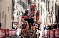 Tadej Pogačar (SVN/UAE-Emirates) up the final steep climb in Siena<br /> <br /> 15th Strade Bianche 2021<br /> ME (1.UWT)<br /> 1 day race from Siena to Siena (ITA/184km)<br /> <br /> ©kramon