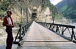 Wangtu bridge, Himachal Pradesh, India, August 2001.