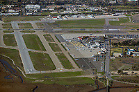 aerial photograph of the Santa Barbara Airport (SBA), Santa Barbara, California