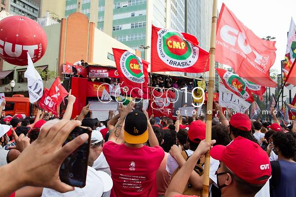São Paulo (SP), 07/09/2021 - Protesto-SP - Protesto Contra o Presidente Jair Bolsonaro -SP- Protesto contra o Presidente Jair Bolsonaro, no Centro da cidade de São Paulo, SP, nesta terça-feira (07).