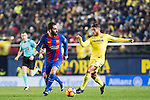 Arda Turan of FC Barcelona battles for the ball with Jonathan Dos Santos of Villarreal CF during their La Liga match between Villarreal and FC Barcelona at the Estadio de la Cerámica on 08 January 2017 in Villarreal, Spain. Photo by Maria Jose Segovia Carmona / Power Sport Images