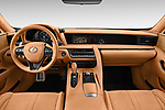 Stock photo of straight dashboard view of a 2018 Lexus LC 500 Sport Plus 2 Door Coupe