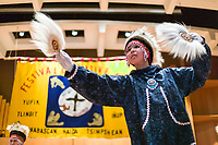 2003 Festival of Native Arts, Fairbanks, Alaska. This elaborate three day event was started in 1973, and has grown each year to become one of the interior's greatest celebrations of Alaska Native culture. Dance groups and artists from all around Alaska come to perform and sell arts and crafts.