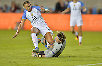 San Jose, CA - November 10, 2016: The U.S. Women's National team go up 2-0 over Romania in first half play in an international friendly game at Avaya Stadium.