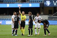 SAN JOSE, CA - OCTOBER 03: Referee Robert Sibiga during a game between Los Angeles Galaxy and San Jose Earthquakes at Earthquakes Stadium on October 03, 2020 in San Jose, California.
