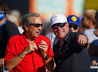 Jul 28, 2017; Sonoma, CA, USA; NHRA team owner Don Schumacher (left) during qualifying for the Sonoma Nationals at Sonoma Raceway. Mandatory Credit: Mark J. Rebilas-USA TODAY Sports