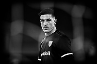 Alessio Cragno of Cagliari Calcio looks on during the warm up prior to the Serie A football match between SS Lazio and Cagliari Calcio at Olimpico stadium in Rome (Italy), February 7th, 2021. Photo Andrea Staccioli / Insidefoto