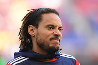 HARRISON, NJ - Sunday November 23, 2014: The New York Red Bulls take on the New England Revolution at Red Bull Arena in the first leg of the Eastern Conference Finals of the MLS Cup Playoffs.