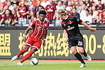 Bayern Munich Defender David Alaba (L) plays against AC Milan Defender Ignazio Abate (R) during the 2017 International Champions Cup China match between FC Bayern and AC Milan at Universiade Sports Centre Stadium on July 22, 2017 in Shenzhen, China. Photo by Marcio Rodrigo Machado/Power Sport Images