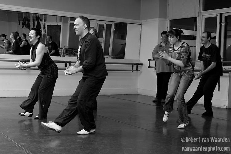 Hans and Katja from Ka - Motion in Gouda teach a lindy hop calss