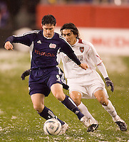 during first half action between the New England Revolution and the MetroStars in the second leg of the MLS Eastern Conference Semifinals at Gillette Stadium, Foxbourgh, MA, on October 29, 2005.