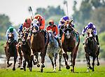 June 28, 2014: Parranda with Elvis Trujillo aboard wins the Royal Heroine Stakes defeating Kathleen Rose at Santa Anita at Santa Anita Park in Arcadia CA. Alex Evers/ESW/CSM