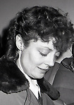 Susan Sarandon after a performance in 'EXTEREMITIES'  at the Westside Arts Theatre on January 17, 1983 in New York City.