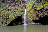 Sacred Falls waterfall in Hau'ula, O'ahu