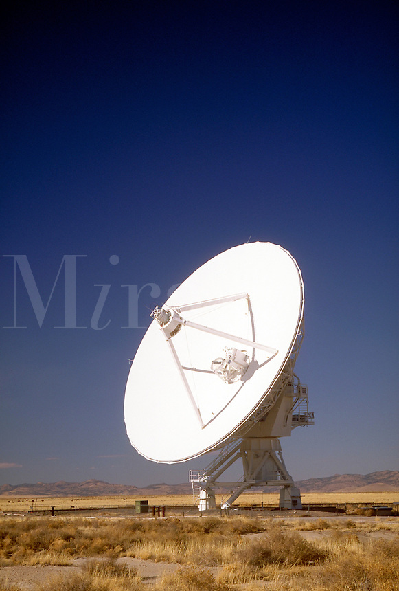 Dish-shaped 82-ft diameter antenna, one of 27 spread across the Plains of Augustin east of Datil, NM on US 60. The antennas are connected together to form a single large radio telescope capable of making pictures of extremely faint objects in the radio  s
