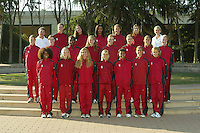 1 September 2005: Women's cross country team photo.