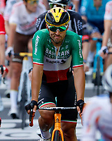8th July 2021; Nimes, France; COLBRELLI Sonny (ITA) of BAHRAIN VICTORIOUS during stage 12 of the 108th edition of the 2021 Tour de France cycling race, a stage of 159,4 kms between Saint-Paul-Trois-Chateaux and Nimes.