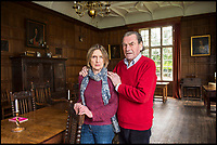 BNPS.co.uk (01202 558833)<br /> Pic: BNPS<br /> <br /> Capt Nigel Thimbleby with his wife Katharine in historic Wolfeton House.<br /> <br /> Countryside campaigners are today celebrating after defeating controversial plans to build a housing estate next to a historic manor that inspired Thomas Hardy.<br /> <br /> Developers had hoped to build 89 new homes in the vicinity of Wolfeton House, which is indelibly linked to Hardy's 1886 novel The Mayor of Casterbridge.<br /> <br /> But officials at Dorset Council have rejected their planning application, to the relief of objectors including Historic England and the Thomas Hardy Society, who argued Hardy's idyllic setting would be 'ruined' by the development.
