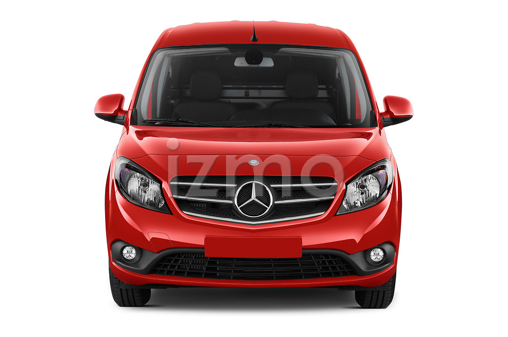 Car photography straight front view of a 2018 Mercedes Benz Citan Perfect Tool 4 Door Panel Wagon