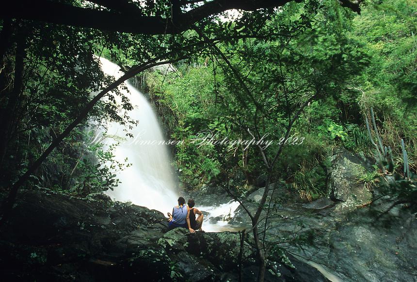 Reef Bay Waterfall in rainy season<br /> Virgin Islands National Park<br /> St. John, U.S. Virgin Islands